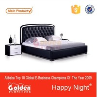 Alibaba . com Golden Furniture CIFF latest bed designs G1060