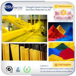 China supplier smooth surface electrostatic spray white epoxy polyester powder coating