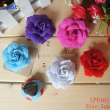 High quality decorative felt rose lapel wedding flower with brooch for men shirt and suit