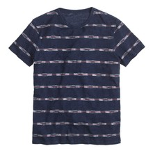 fashionable online shopping cheap printed stripe t shirt men