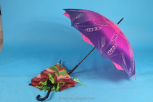 new design double layer fabric fashion outdoor staight umbrella for ladies