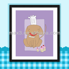 Popular Modern Framed Pictures Painting/Kid Tool Playing Decorative Picture Bear Smile For Home Decor