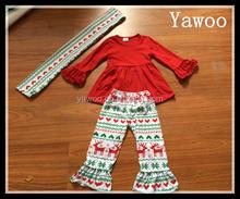 yawoo kids clothing suppliers china christmas dress organic cotton baby clothing holiday 3pcs scarf baby girl clothing sets