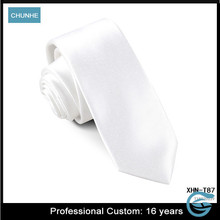 Hot Sell Pure White Solid Custom design your own necktie
