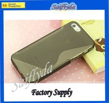 Fashion wave gel TPU s line case for iphone 5