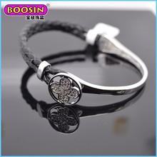 Boosin New arrival flower fashion leather cuff bracelet for women