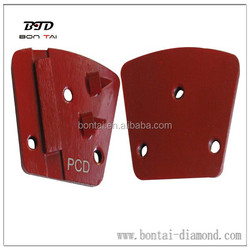 metal bond pcd segmented grinding head for removing epoxy from concrete