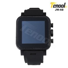 Black Dual core watch phone android wifi 3g 5mp front camera customized brand JW-A8 600mAh standby 2 days