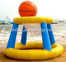 2014 big inflatable water basketball court hoop play in pool