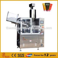 hot sale automatic toopaste cosmetic shampoo gel plastic tube filling and sealing machine