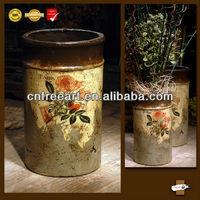 Antique color surface clay pots earthware for garden