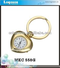 customized promotional gold wholesale craft metal charm heart keychain