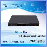 16 10/100M ports (MDI / MDIX adaptive) POE Fiber Switch 2 10/100/1000M Gigabit copper RJ45 ports 2 SFP GBIC fiber module slots