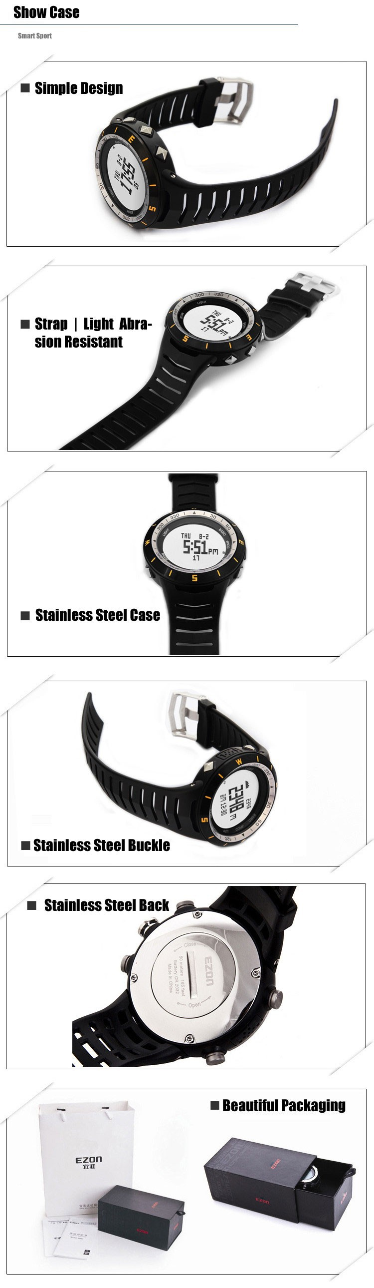 ezon watch H005A11 Men's outdoor sports climbing Waterproof watches watches