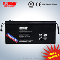 Long life AGM 2v 200ah solar battery