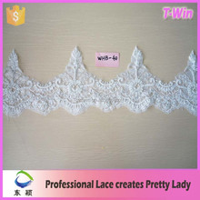 2015Eco-friendly garment accessories lace trim/beaded sequined lace trim for wedding dress
