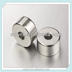 China supplier 1 inch round magnets with holes