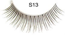 Charming one dollar invisible band red cherry human hair eyelashes