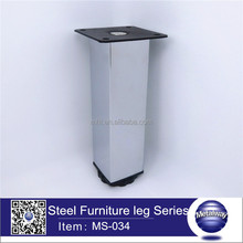 Fashion square stainless steel furniture leg/adjustable square Iron sofa leg/classical metal cabinet leg