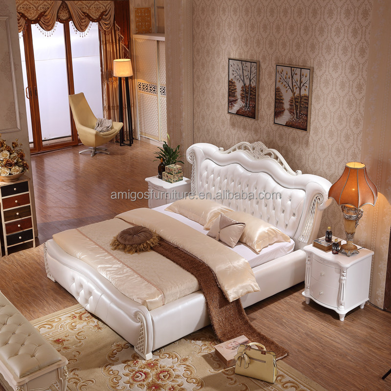 China Foshan Bedroom Furniture Upholstered Bed Buy French Provincial