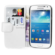 Wallet Design Leather Case Cover For Samsung Galaxy S4 Mini I9190