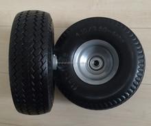 PU foam wheel 410/350-4 solid 10 inch wheel for hand truck