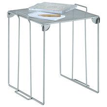 Escritorio de casa o del gabinete de cocina de metal plegable y apilable organizador de almacenamiento de malla