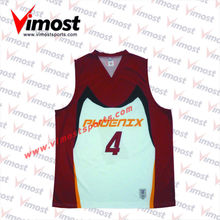 custom sublimation basketball jersey/quality basketball top 5
