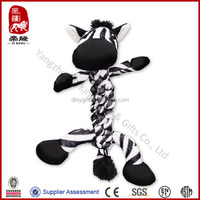 Pet toy for dog kong braidz dog toy soft rope toy for dog