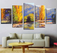 5 Piece Art Set! Autumn Landscape Abstract Painting! 100% Hand painted Oil Painting On Canvas Top Home Decoration paint