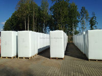 White peat moss in 6000 L big bales