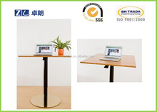 Height adjustable table for coffee tea in restaurant