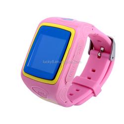 Kids Wireless Fitness Wrist Watch Phone and Activity GPS Tracker children safe security SOS smart watch -blue pink