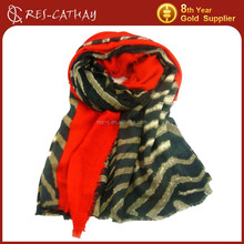 2015 wholesale fashion printing tiger stripe scarf