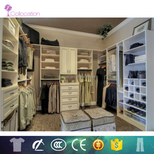 Open style walk-in closet designs with wardrobe for sale