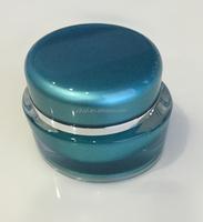 Green Plastic kosmetik jars container/Acrylic jra skin cream
