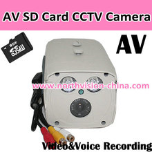 SD card outdoor camera with 2pcs high power led and AV/TV out function
