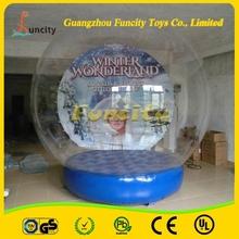 Attractive large Christmas snow globe,halloween snow globe,christmas inflatable snow globe for sale