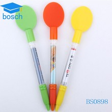 Novelties promotion plastic ballpoint pen retractable banner pens