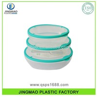 Plastic Food Storage Set airtight food container with vented lid