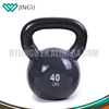 color half vinyl kettle bells with fixed size of handle kettle dumbbell with vinyl cover