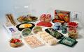 Almoço descartável containers / bandeja fast food