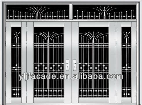 Hierro Y Puertas De Vidrio Cristal De Construccion