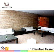 Hot selling PE rattan garden sofas and aluminum frame outdoor furniture
