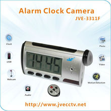 JVE-3311F Multi-function Digital Motion Detection Alarm Clock Camera with USB Drive in Security& Protection