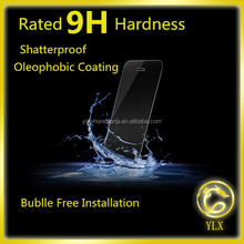 YLX high quality 2.5d border round angle tempered glass for iphone 5 lcd assembly tempered glass protective screen protectors