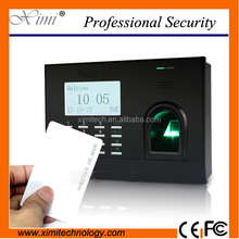 TCP/IP fingerprint time attendance with software with RFID and camera fuction