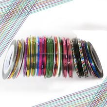 Professional 40 colors nail striping tape for nail art decoration nail tapes