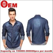2015 Hitz men's long-sleeved jeans men's shirt