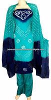 Designer Stitched Boho Bohemian Bandhini Bandhej Tie & Dye Cotton Suit Churidar